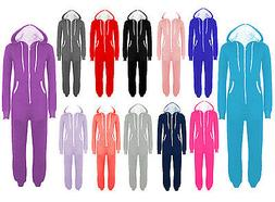 PLUS SIZE UNISEX PLAIN ONE PIECE HOODED ALL IN ONE ZIP ONESI
