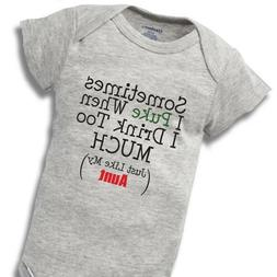 Sometimes When I Drink Aunt Onesies Baby Gift Funny Cute Aun