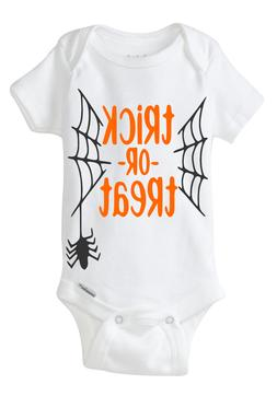 TRICK OR TREAT Gerber Onesie Baby Shower Gift HALLOWEEN