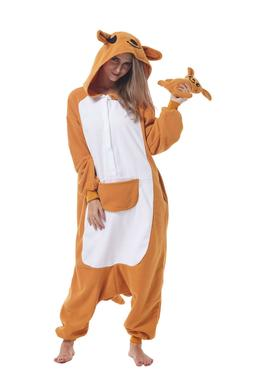 Women Adult Animal Cosplay Costumes Kangaroo Kigurumi Pajama