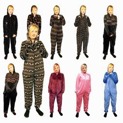 Womens Ladies Soft Comfy All In One Baggy PJ'S Loungewear Xm
