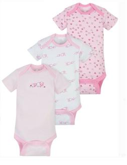 Gerber Wonder Nation Baby Girl Onesie Bodysuit 3 Pack Size 3